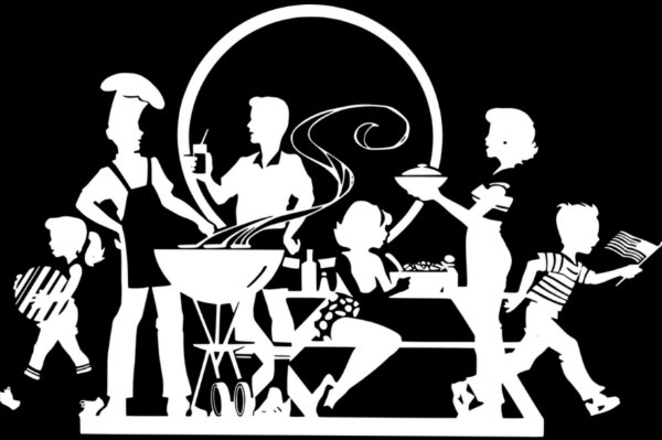 Tapete churrasco em família