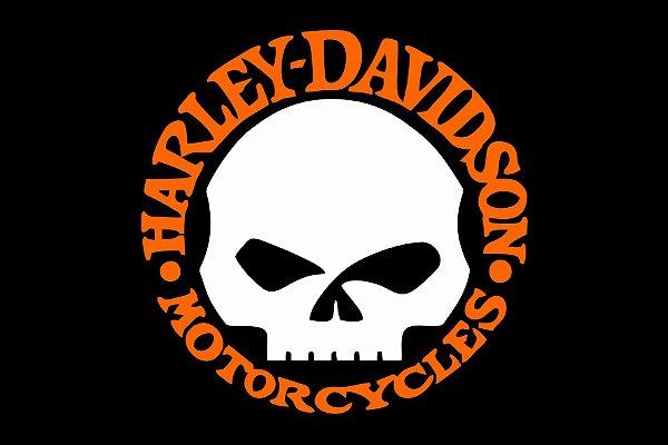 Tapete skull Harley Davidson