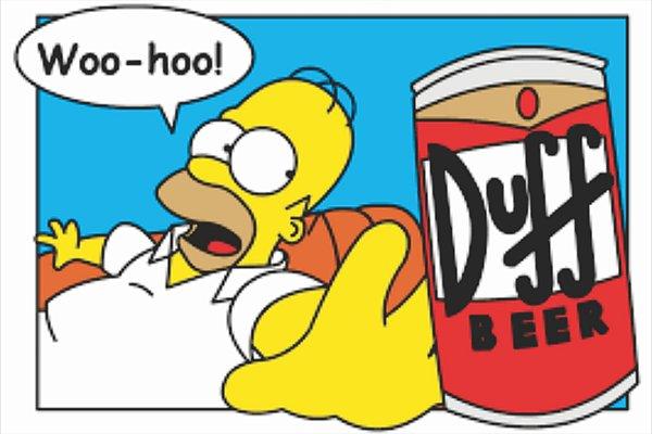 Tapete Homer Simpson Duff