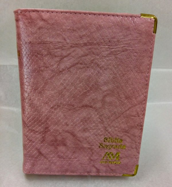 Biblia Ave Maria Luxo Rosa Média