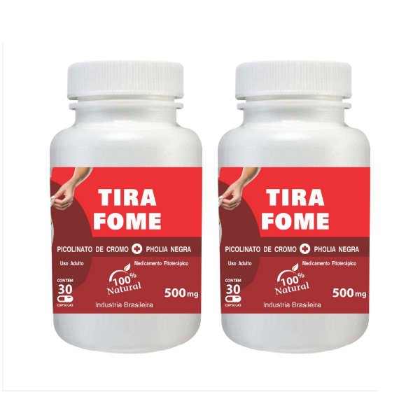 7101  Kit Tira Fome Picolinato de Cromo e Pholia Negra