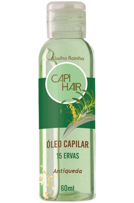 1090 CAPI HAIR – ÓLEO FORTALECEDOR PARA OS CABELOS 15 ERVAS 60ml