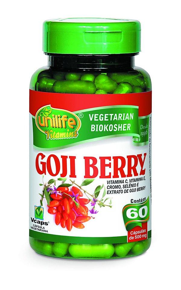 1134 Goji Berry com Vitamina C e E, Cromo, Selênio e Extrato de Goji Berry 500mg 60 Cápsulas