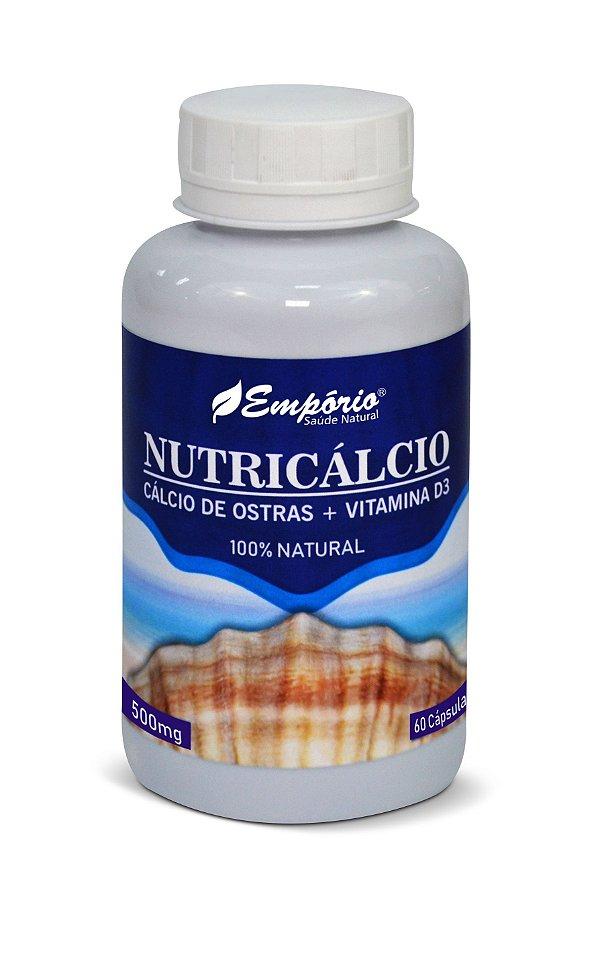 1265 Nutricálcio Cálcio de Ostras + Vitamina D3 500mg 60 Cápsulas