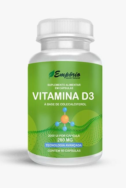 1328 Vitamina D3 280mg 60 Cápsulas
