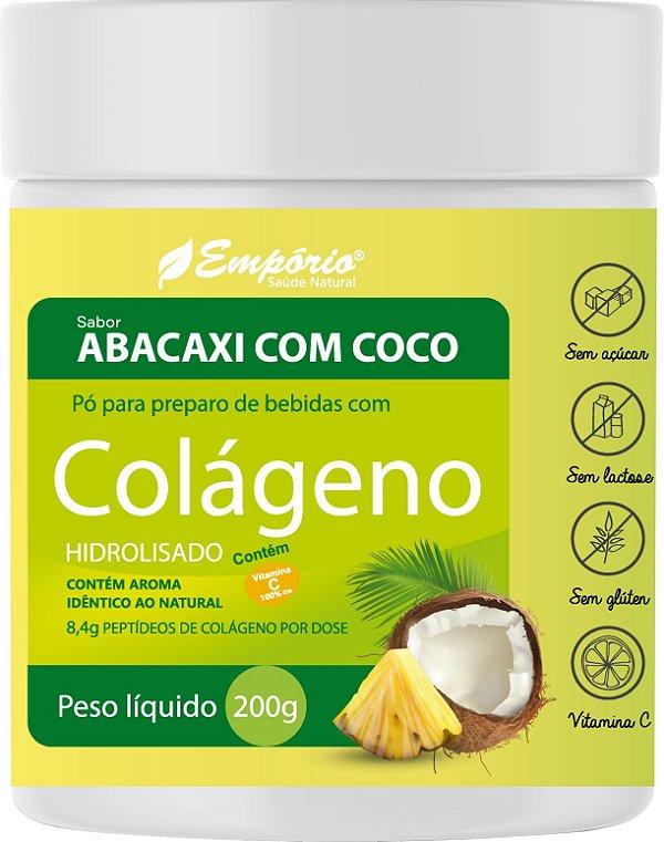 1366 Colágeno Peptídeos em Pó Sabor Abacaxi com Coco