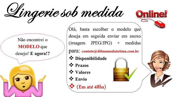 CONFECÇÕES SOB MEDIDA (ENCOMENDA): CONJUNTOS/ SUTIÃS/ CALCINHAS/ CAMISOLAS/ BABY DOLL/ MODELADORES/ BIQUÍNIS/ FITNESS