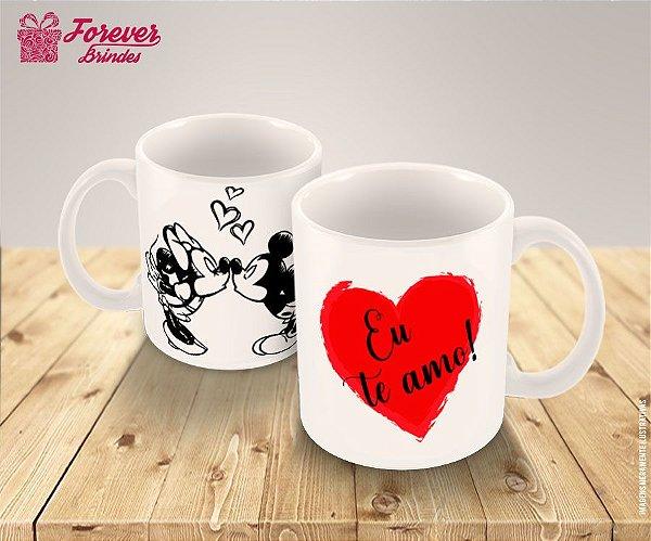 Caneca de Porcelana Mickey e Minnie