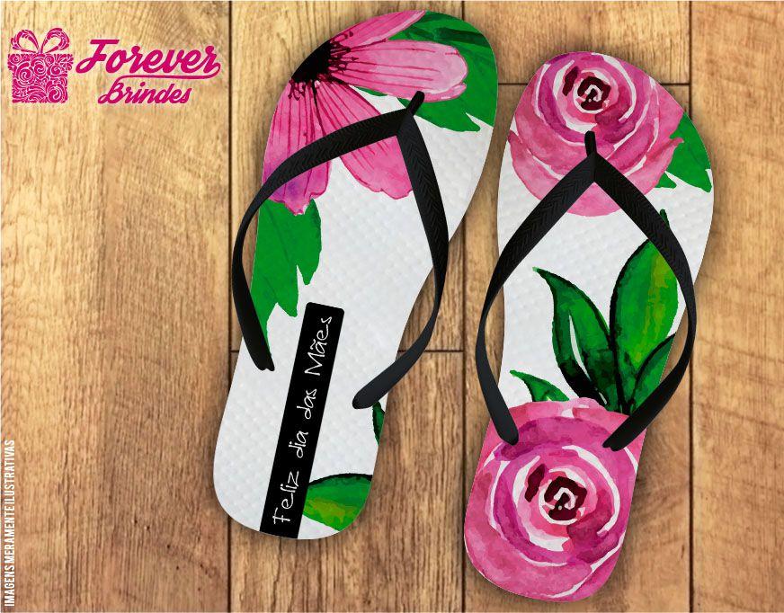 Chinelo Dia Das Mães Floral