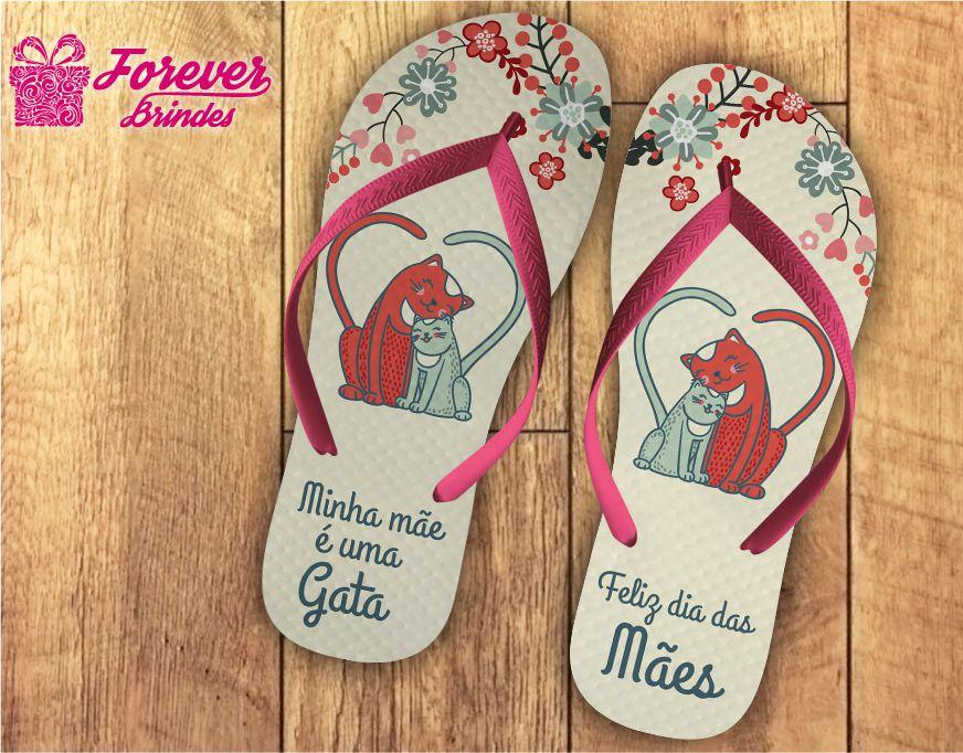 Chinelo Dia Das Mães Gata