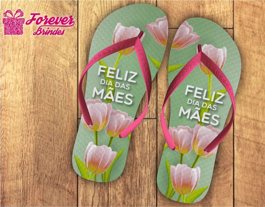 Chinelo Dia Das Mães Tulipas