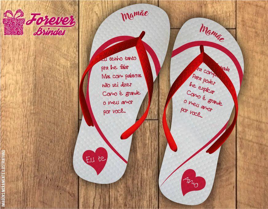 Chinelo Dia Das Mães Corações