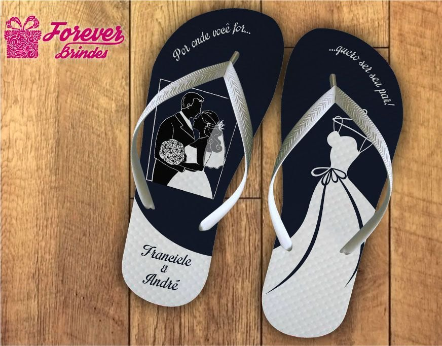 Chinelo De Casamento Vestido De Noiva