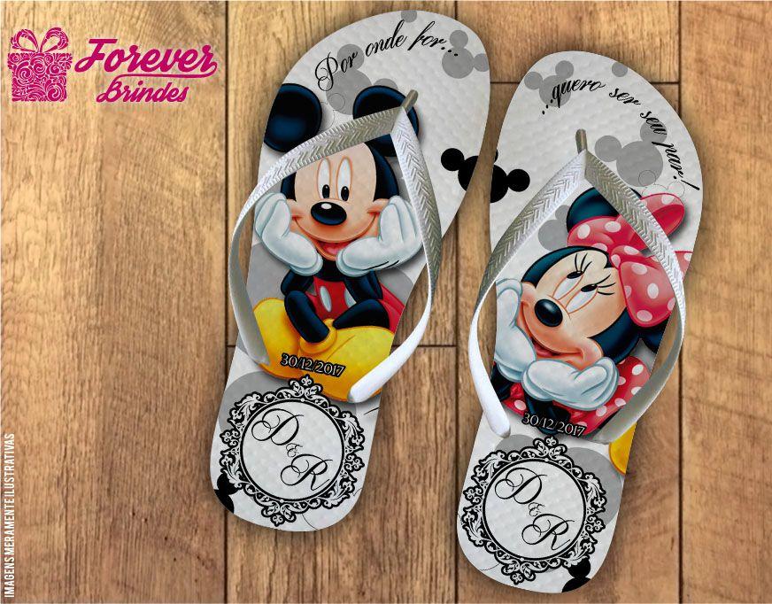 Chinelo De Casamento Mickey e Minnie