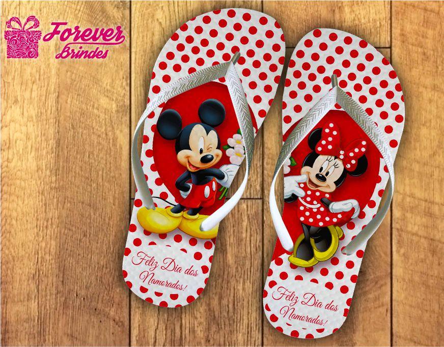 Chinelo Dia Dos Namorados Mickey e Minnie