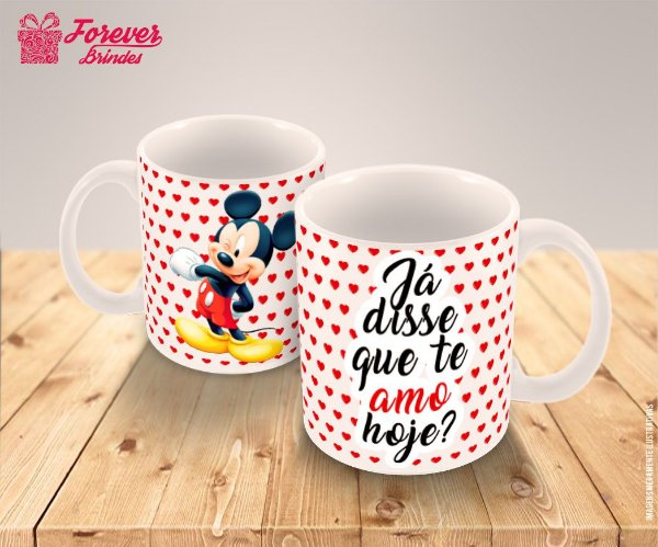 Caneca Porcelana Mickey Disney