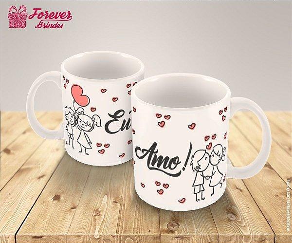 Caneca Porcelana Casamento Amor