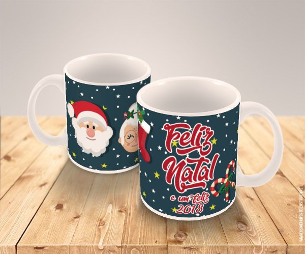 Caneca Porcelana Personalizada Natal