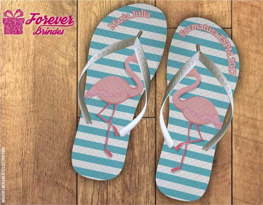 Chinelo De Formatura Flamingo Listrado