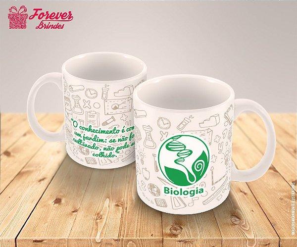 Caneca Porcelana Personalizada Formatura Biologia