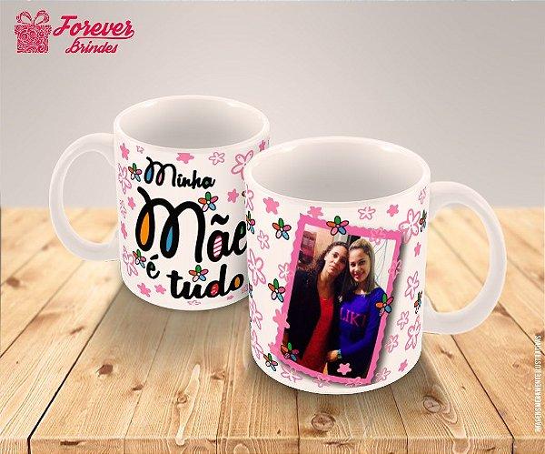 9a51fb879 Caneca Porcelana Personalizada dia das Mães Floral - FOREVER BRINDES