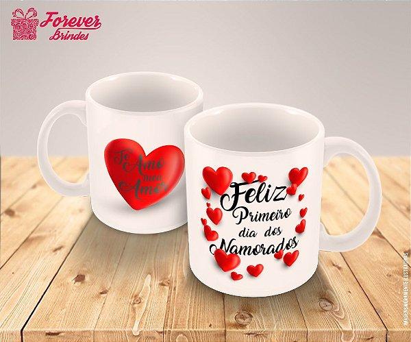 c7290a9eb Caneca Porcelana Personalizada dia dos Namorados - FOREVER BRINDES