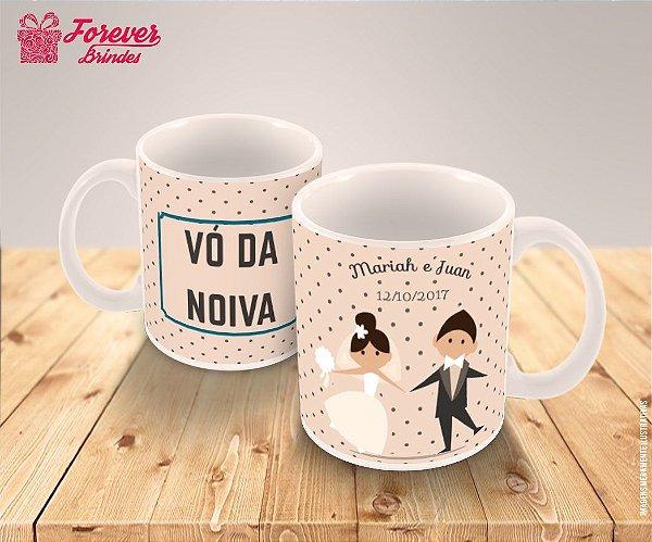 Caneca Porcelana Personalizada Casamento