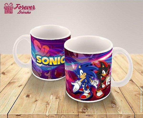 Caneca De Porcelana Sonic