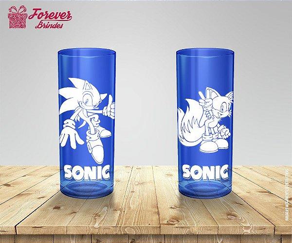 Copo personalizado Long Drink Sonic e Tails
