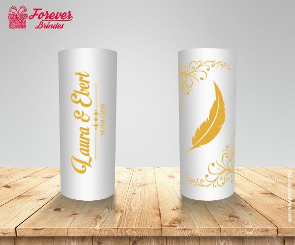 Copo Long Drink Casamento Floral