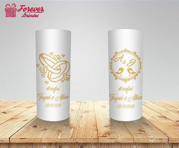 Copo Long Drink Casamento Pombinhos