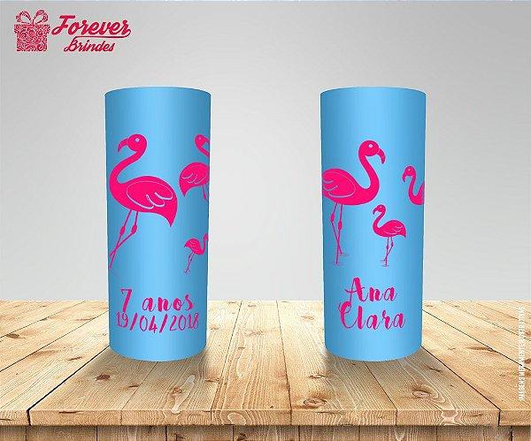 Copo Long Drink Aniversário Flamingo
