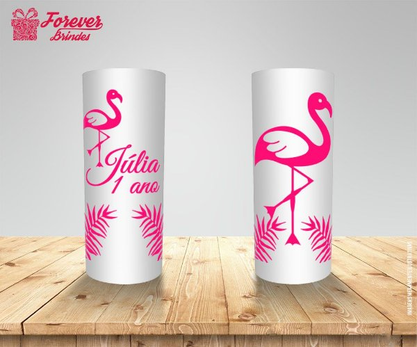Copo Long Drink Flamingo Floral
