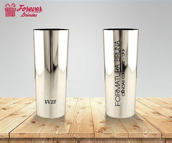 Copo Long Drink Metalizado Ciências Contábeis Prata