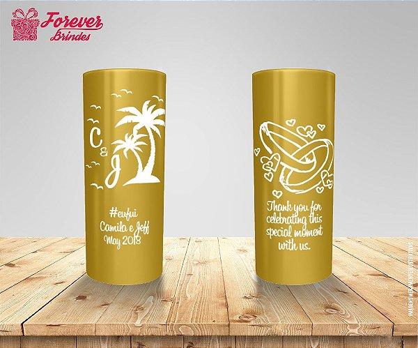 Copo Long Drink Casamento Coqueiros