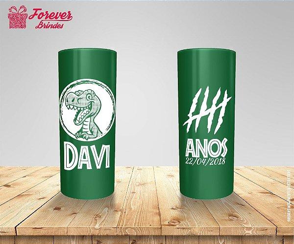 Copo Long Drink Rosto Do Dinossauro