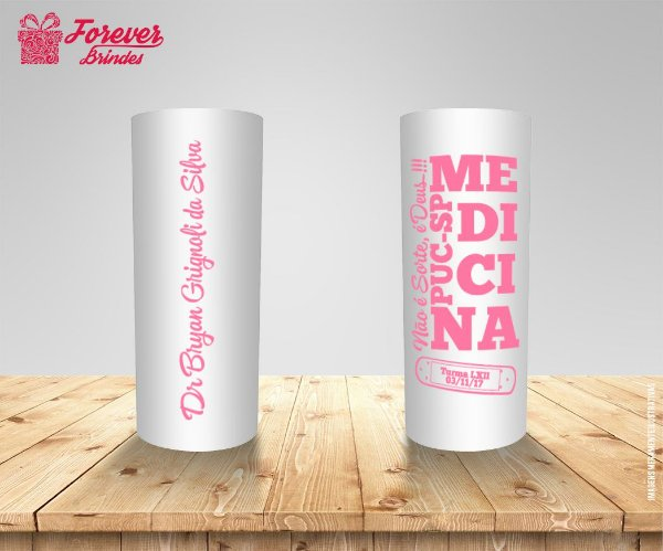 Copo Long Drink Medicina Frase
