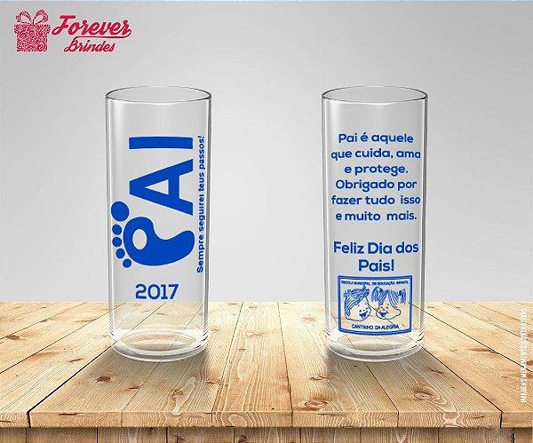 Copo Long Drink Dia Dos Pais Mensagem