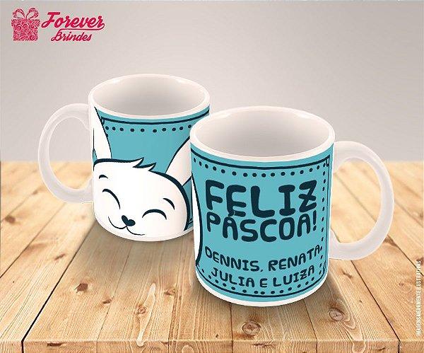 Caneca Porcelana Estampada Pascoa