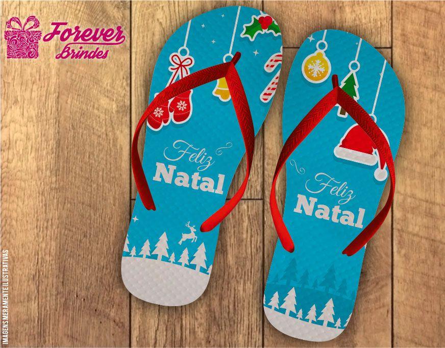 Chinelo De Natal Ícones Natalinos
