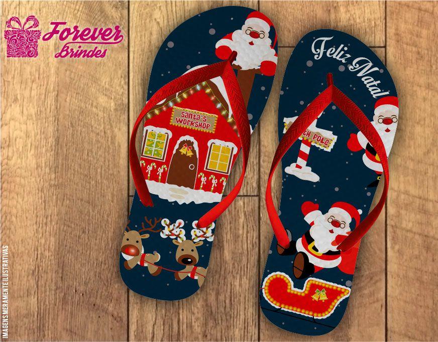 Chinelo De Natal Casa Do Papai Noel