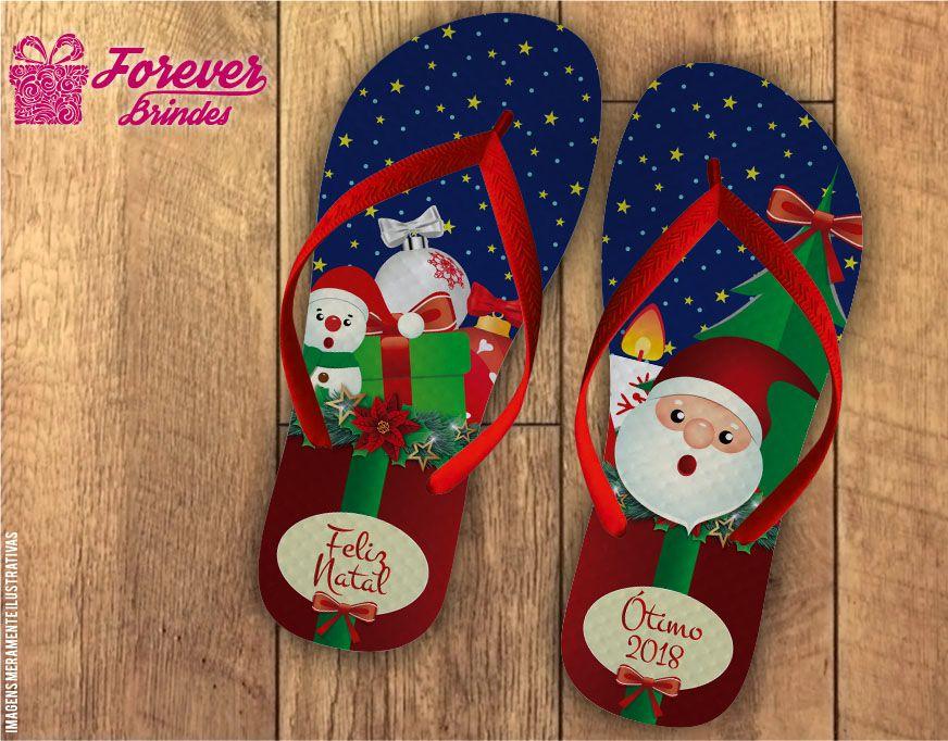 Chinelo De Natal Presentes