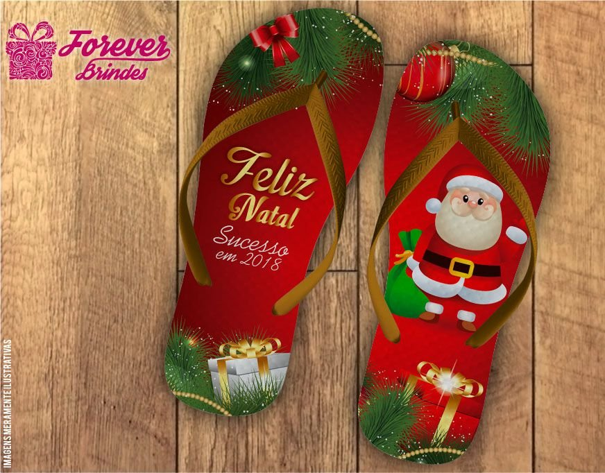 Chinelo De Natal Papai Noel