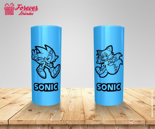 Copo Long Drink Sonic e Tails