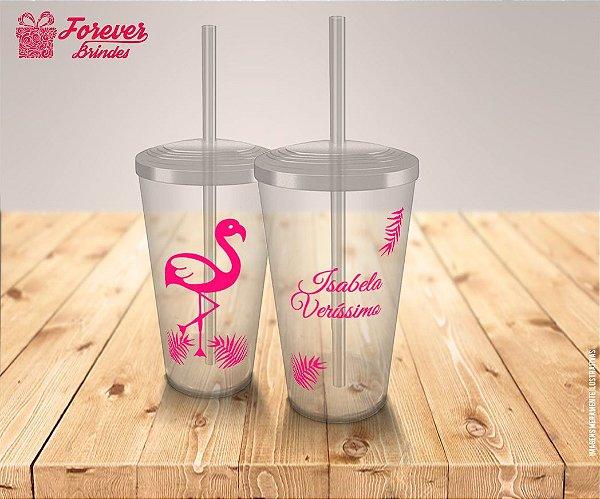 Copo Twister Aniversário Flamingo