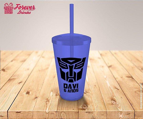 Copo Twister Aniversário Robô Transformers