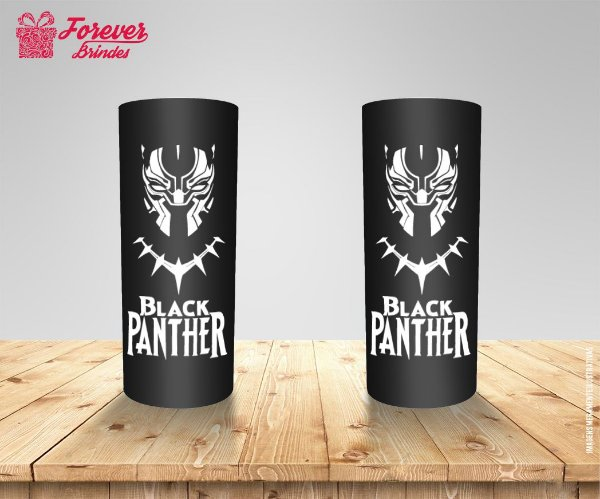 Copo Long Drink Black Panther