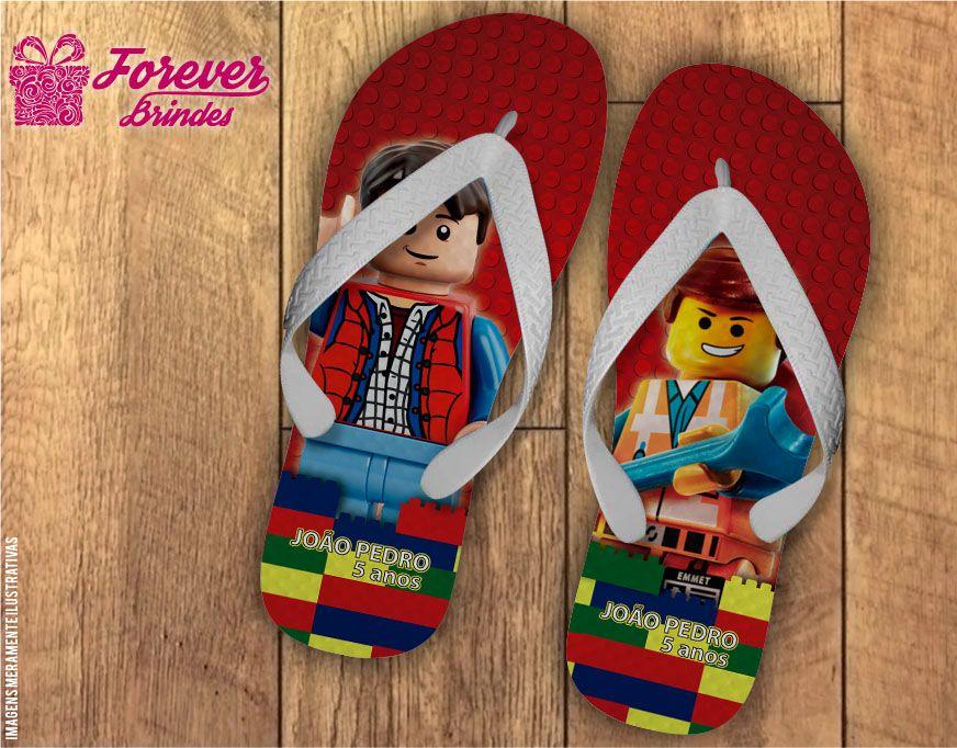 Chinelo De Aniversário The Lego Movie