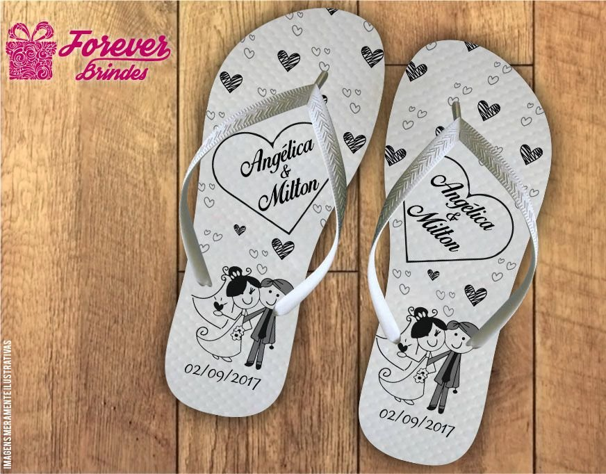 chinelo casamento mil amores