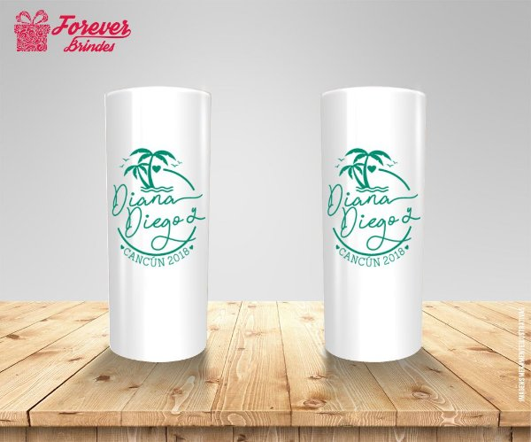 Copo Long Drink Casamento Tropical